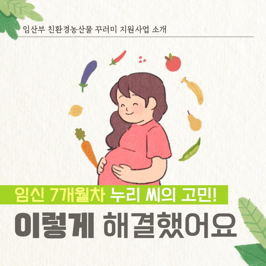 임산부 친환경농산물 꾸러미 지원사업 소개 임신 7개월차 누리 MI의 고민!! 이렇게 해결했어요